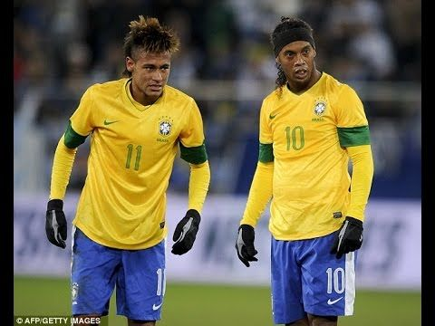 Ronaldo Neymar Ronaldinho Top 10 Skills Battle Brazilian DNA Skills