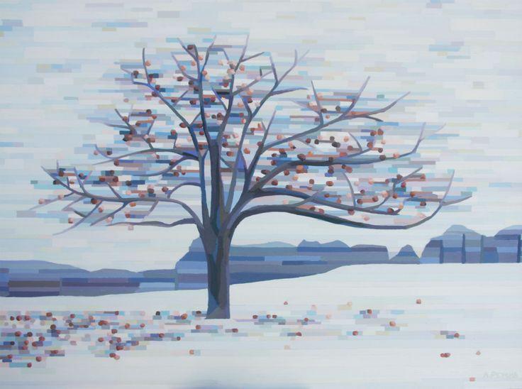 Winter Apple Tree Oil on Canvas 36 X 48