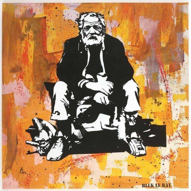 Blek le Rat, Le Misérable (2010), via Artsy.net