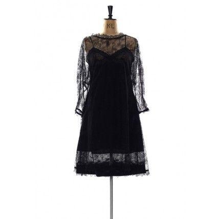 Amanda Garrett 'Mother Of Bride' Collection- Black Lace Cocktail Dress