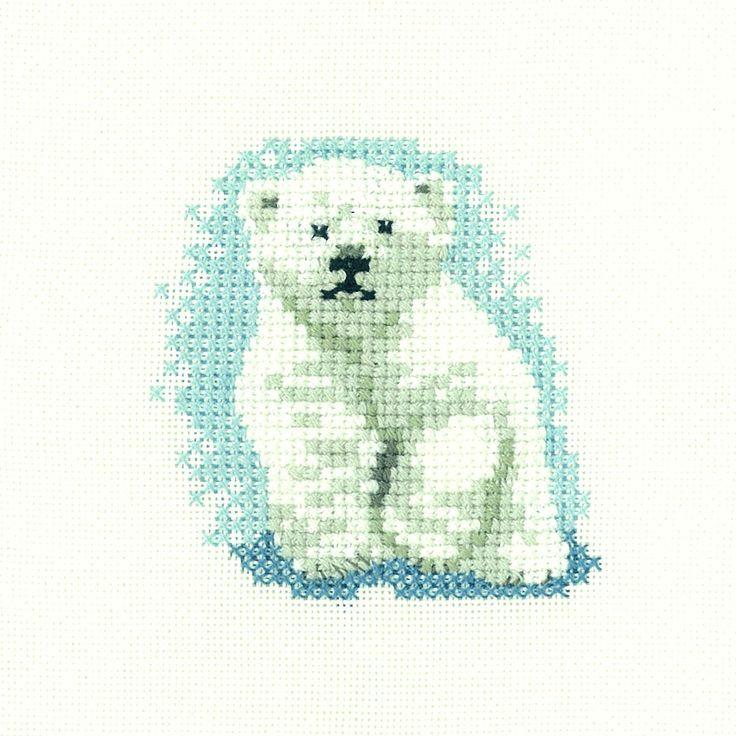 Polar Bear Cub | Heritage Crafts Counted Cross Stitch Kit