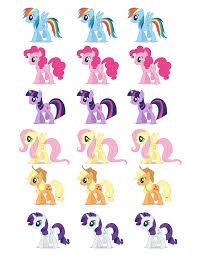my little pony printable cutouts - Google Search