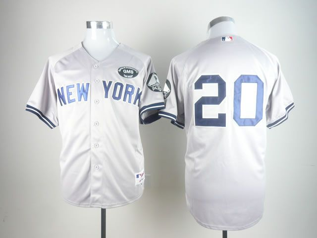 Men's MLB New York Yankees #20 Jorge Posada Gray GMS The BossJersey