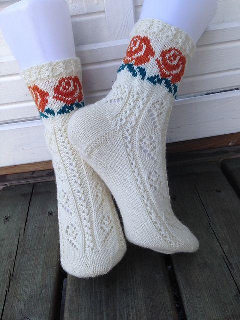 Ravelry: knitting1955's Rose sokker