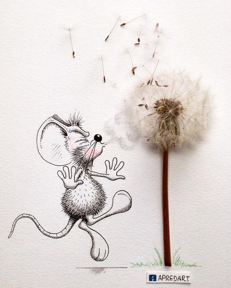 Днем, мыши смешные рисунки
