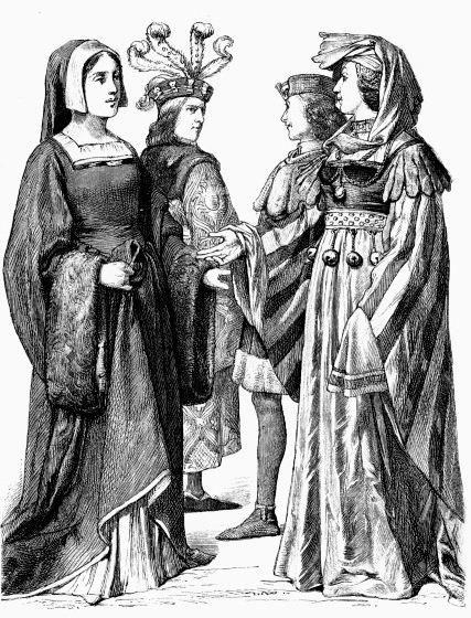 Костюм франции 14 век
