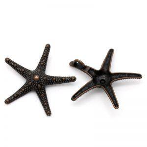 Large Pendant Starfish Antique Copper Pack of 2, at www.kookeli.com