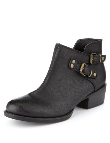 Limited Edition Buckle Ankle Boots - Marks & Spencer