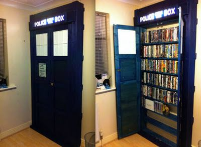 There's a lot you can do with a TARDIS - but this DVD cabinet must be my all-time favorite!