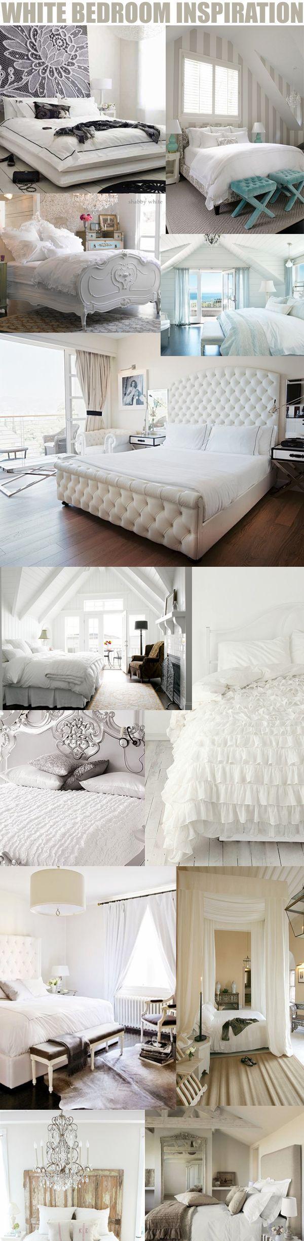 Bedroom Decorating Idea, White Bedroom Decor
