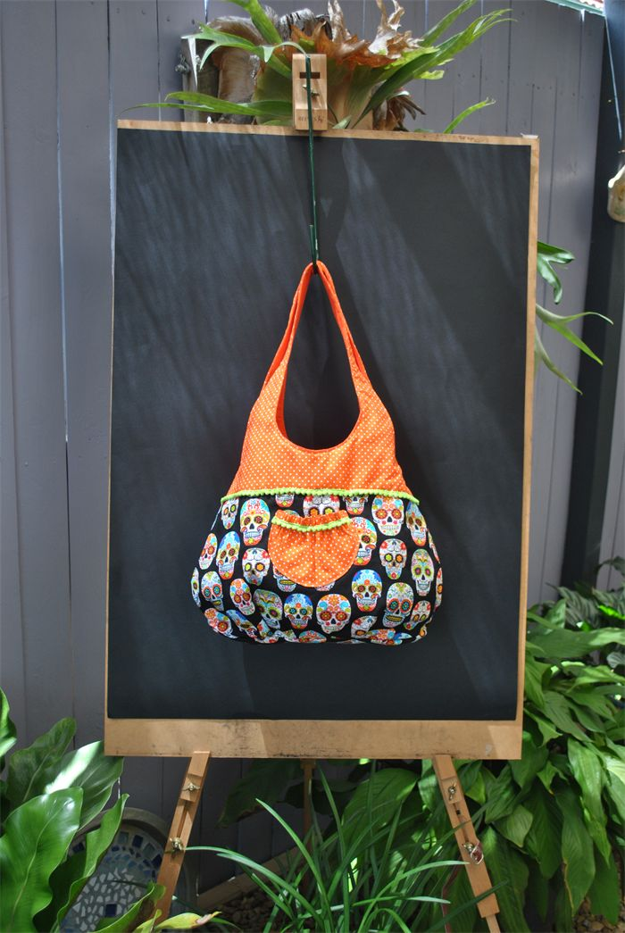 Roxy - funky skull Sling Bag | Witching Hour | madeit.com.au