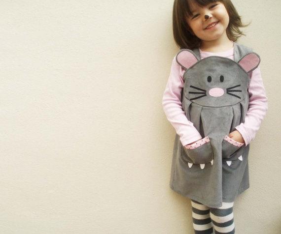 Disfraz-vestido ratoncita // Disfraces para niñas hechos a mano