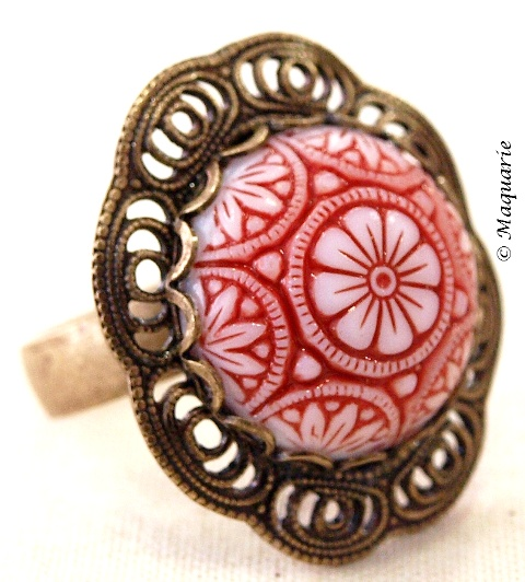 Red Mosaic Ring