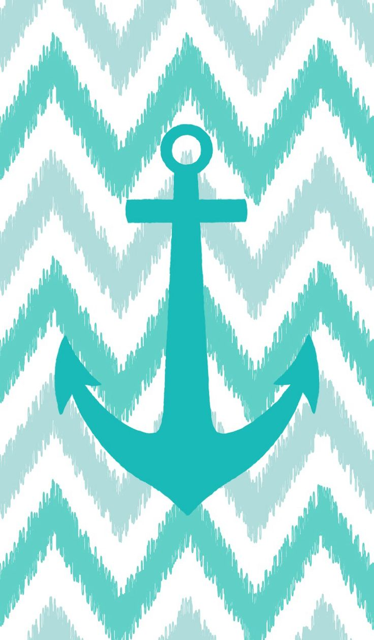 Iphone wallpapers tumblr chevron - Teal Anchor On Teal Chevron Anchor Wallpaperchevron Wallpaperanchor Artiphone Backgroundsiphone