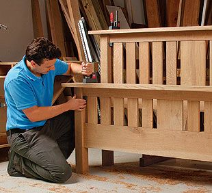 Best 25 woodworking bed ideas on pinterest diy bed for Mission style bed frame plans
