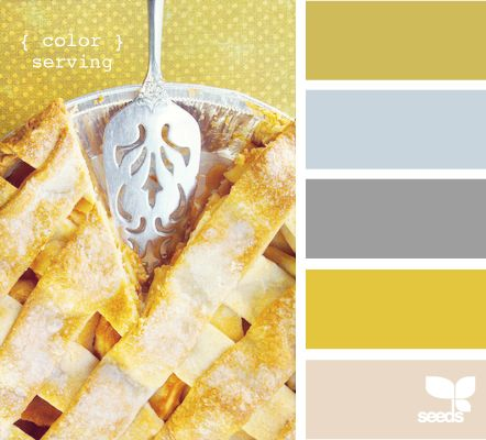 yellows grays color palette