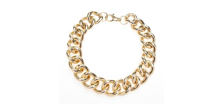 Voluminoso collar en bronce y baño en oro, con precioso cierre mosquetón.  New Arrival 70's SOUL collection  http://www.salvatore.es/ver/1885/Colección-Prim-Ver-2012.html#