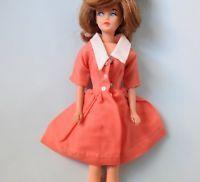 Tressy vintage Barbie clone coffee break salmon dress
