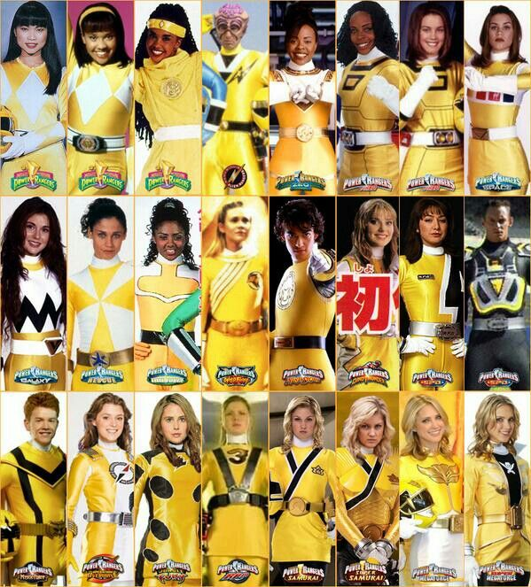 All the Yellow Rangers