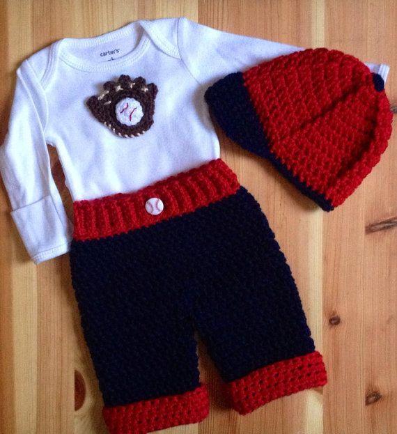 Crochet Homerun Baseball Baby Boy Layette 3 por BellaBeansCrochet