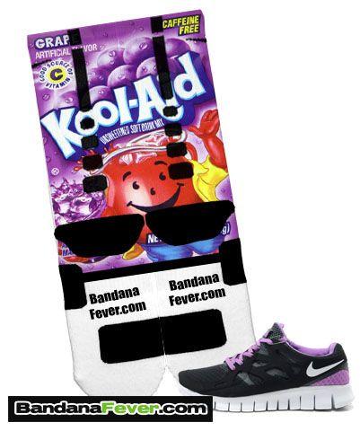 Custom Nike Elite Socks Grape Kool Aid, #elites, #elitesocks, by Bandana Fever