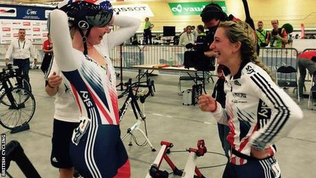 Three golds each for Laura Trott & Katie Archibald at European Track Cycling Championships http://bbc.in/1Ki0ULN