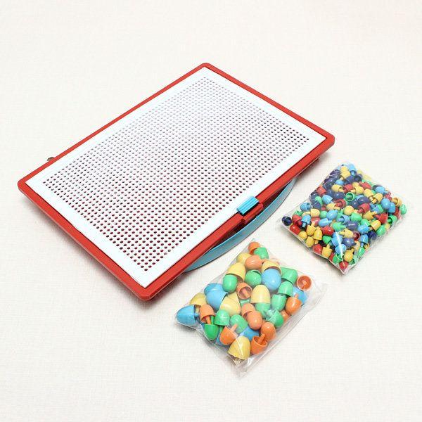 Plastic Nail Composite Picture Creative Mosaic Kit Puzzle Kid Toys
