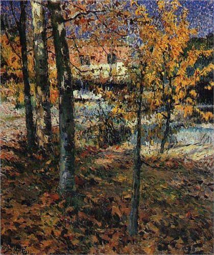 Jose Malhoa (1857 - 1929) | Impressionism | Autumn - 1918