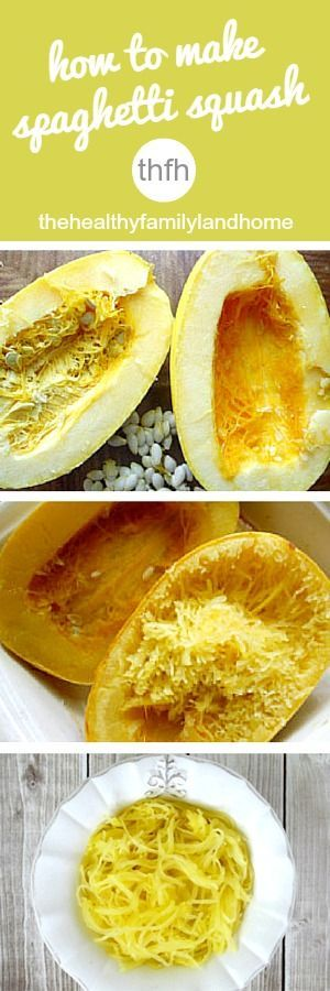 How To Make Spaghetti Squash Pasta | The Healthy Family and Home