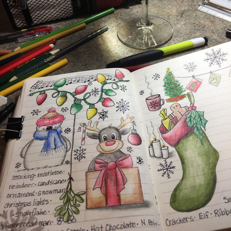 This is what happens when you are snowed in for the second day! #doodlewithusindecember #doodle #christmas #pencilcrayon