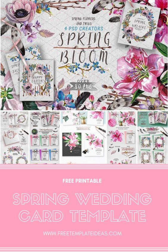 spring wedding card template the best blogs on pinterest