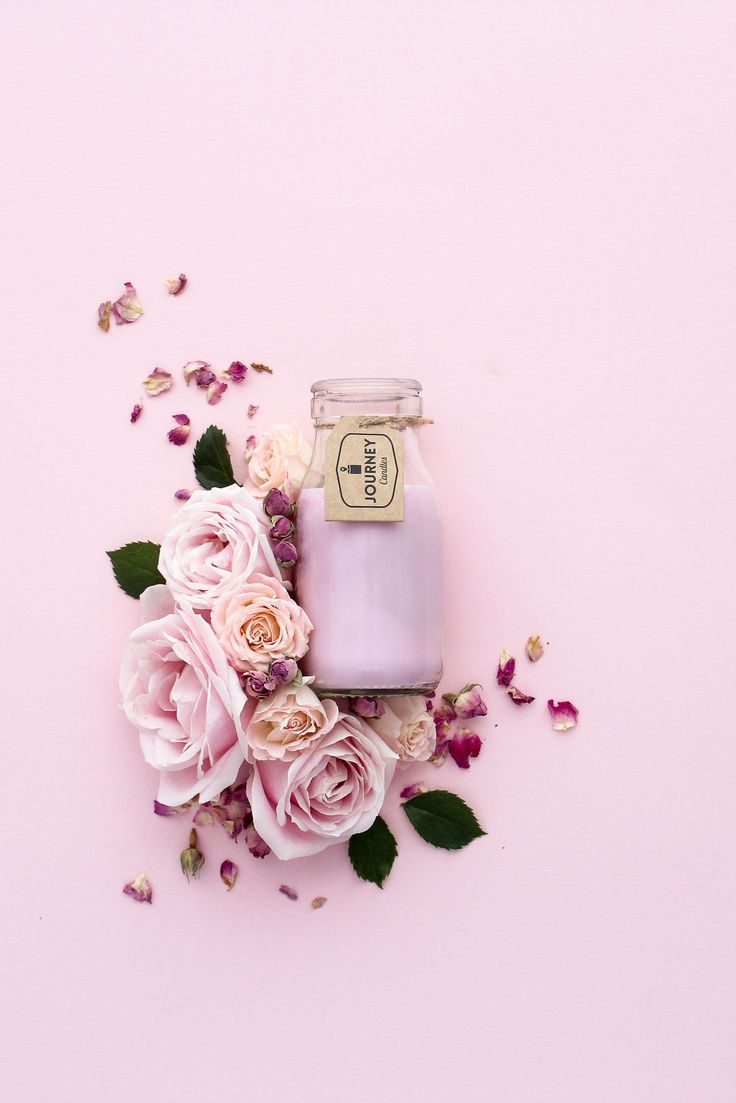 Floral styling and photography for Journey Candles, see more on my website. Click the link.   #natural #nature #photography #texture #naturalelements #flowers #productstyling #candle #roses #pink
