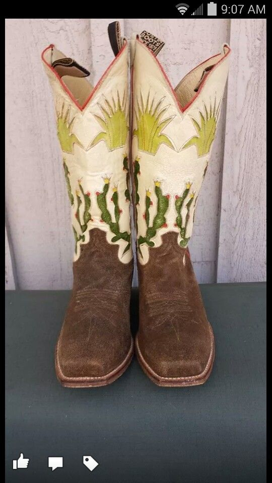 Justin vintage line....love them! Feeds my cactus AND boot fetish