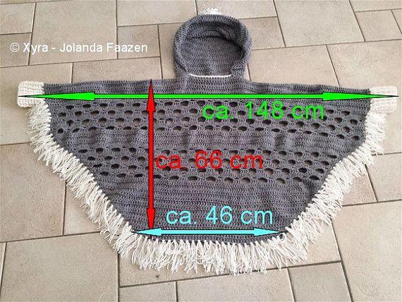 Xyra PATR1032-crochet pattern-poncho with sleeves by XyraCreaties