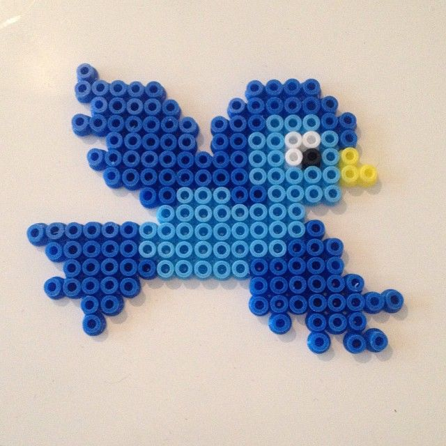 Bird hama beads by villal8