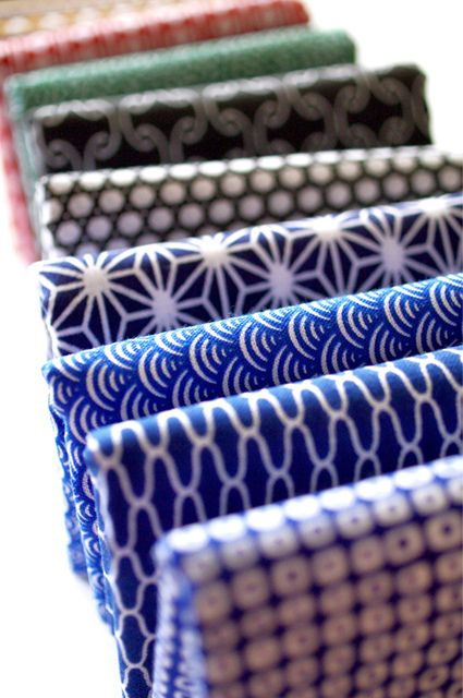 Japanese komon 'Tenugui'- love these prints for pillows that aren't too girly