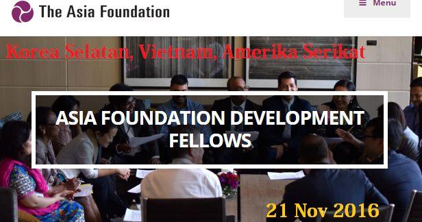 Beasiswa Pengembangan dari ASIA Foundation