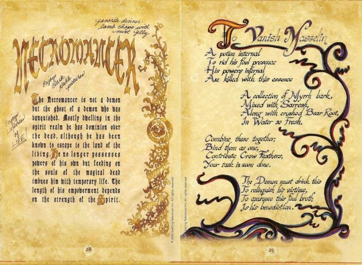 charmed ones spells: