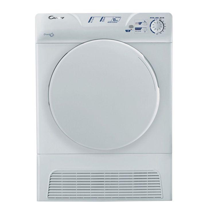 Ropa siempre seca al mejor precio y sin instalación con la secadora de condensación Candy GCC 580NB.