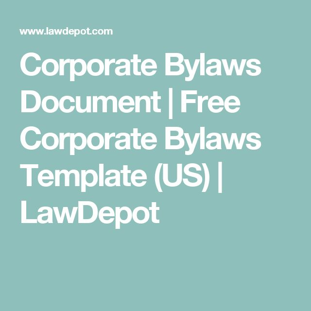 Corporate Bylaws Document   Free Corporate Bylaws Template (US)   LawDepot