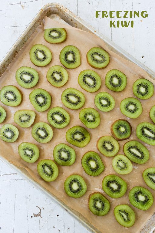 Smoothie Tips ~ Freezing kiwi is so easy ... and it's perfect for a refreshing summer smoothie!
