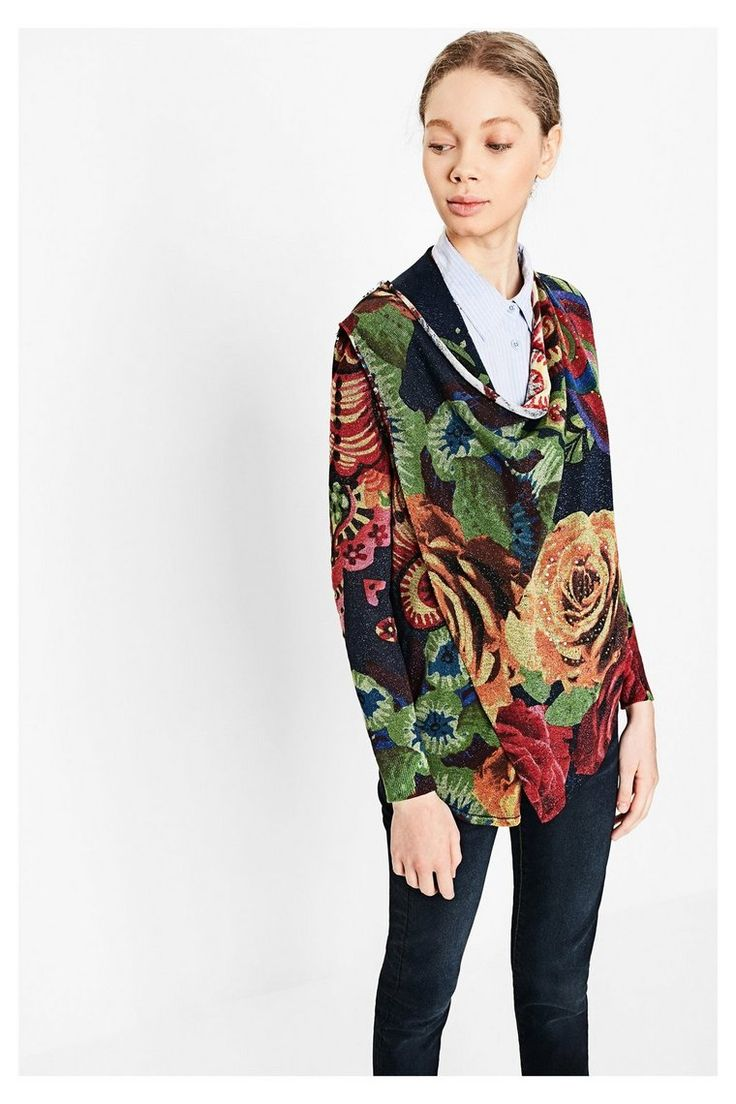 Boho tunic top blouses and dress 4009 trendy boho vintage gypsy - Blue Cardigan With Flowers Beni