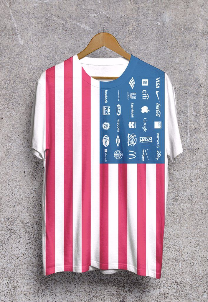 Corporate america t shirt easy marketing pieces to for Mass t shirt production