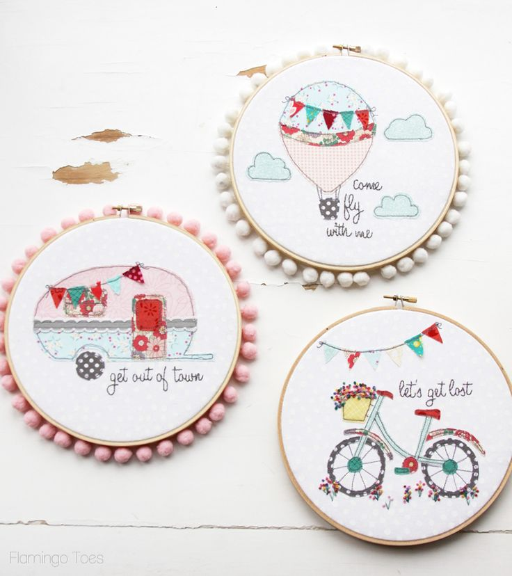 Fun Summer Embroidery Hoop Art