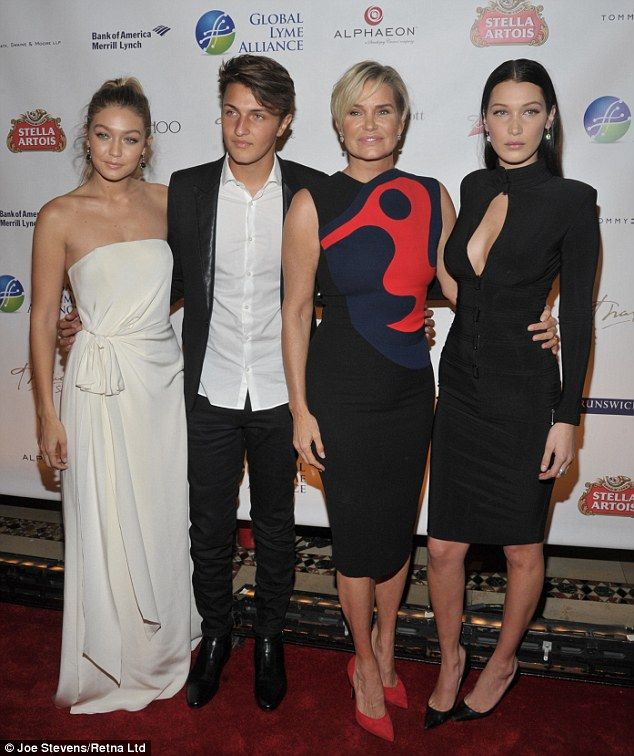 Battle: While Gigi Hadid (L) is not a sufferer of the disease, Anwar, Bella and Mohamed's ...