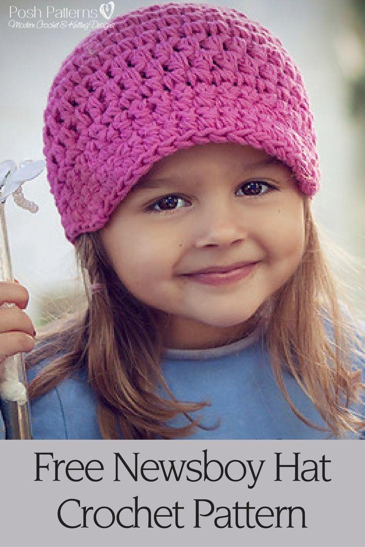 25+ best ideas about Crochet Newsboy Hat on Pinterest Kids hats, Crocheted ...