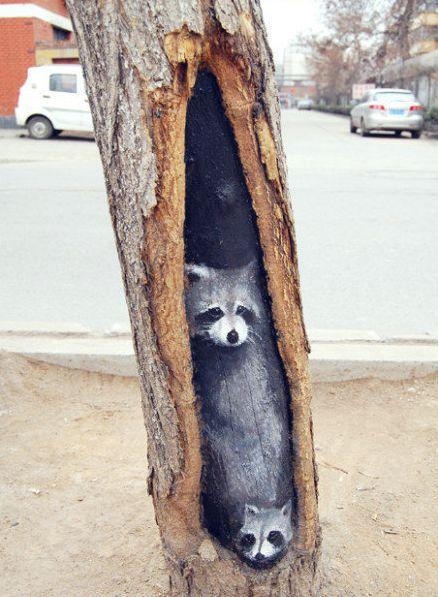 Street art By Wang Yue