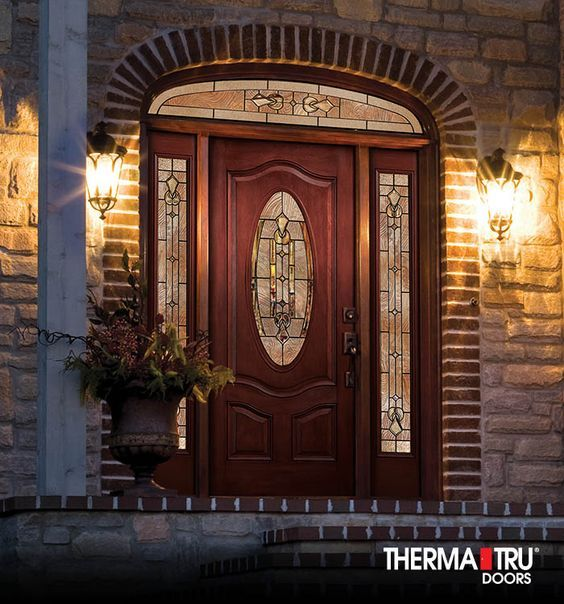 1000 ideas about entrance doors on pinterest apartment for Therma tru fiber classic mahogany price