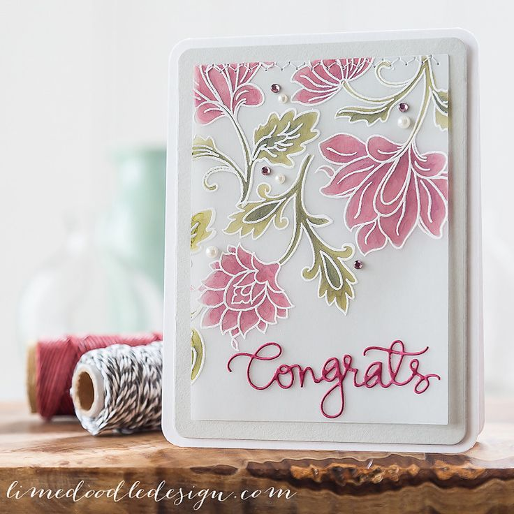 Colouring on vellum - Debby Hughes - Lime Doodle Design