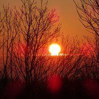 coucher de soleil en Aveyron